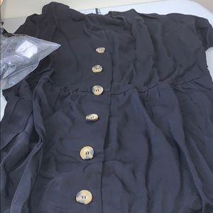 ASOS Dresses - ASOS DESIGN v neck button through mini smock dress
